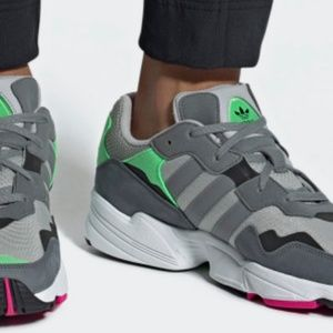 NEW Adidas YUNG-96 Grey, Green and Pink Sneakers